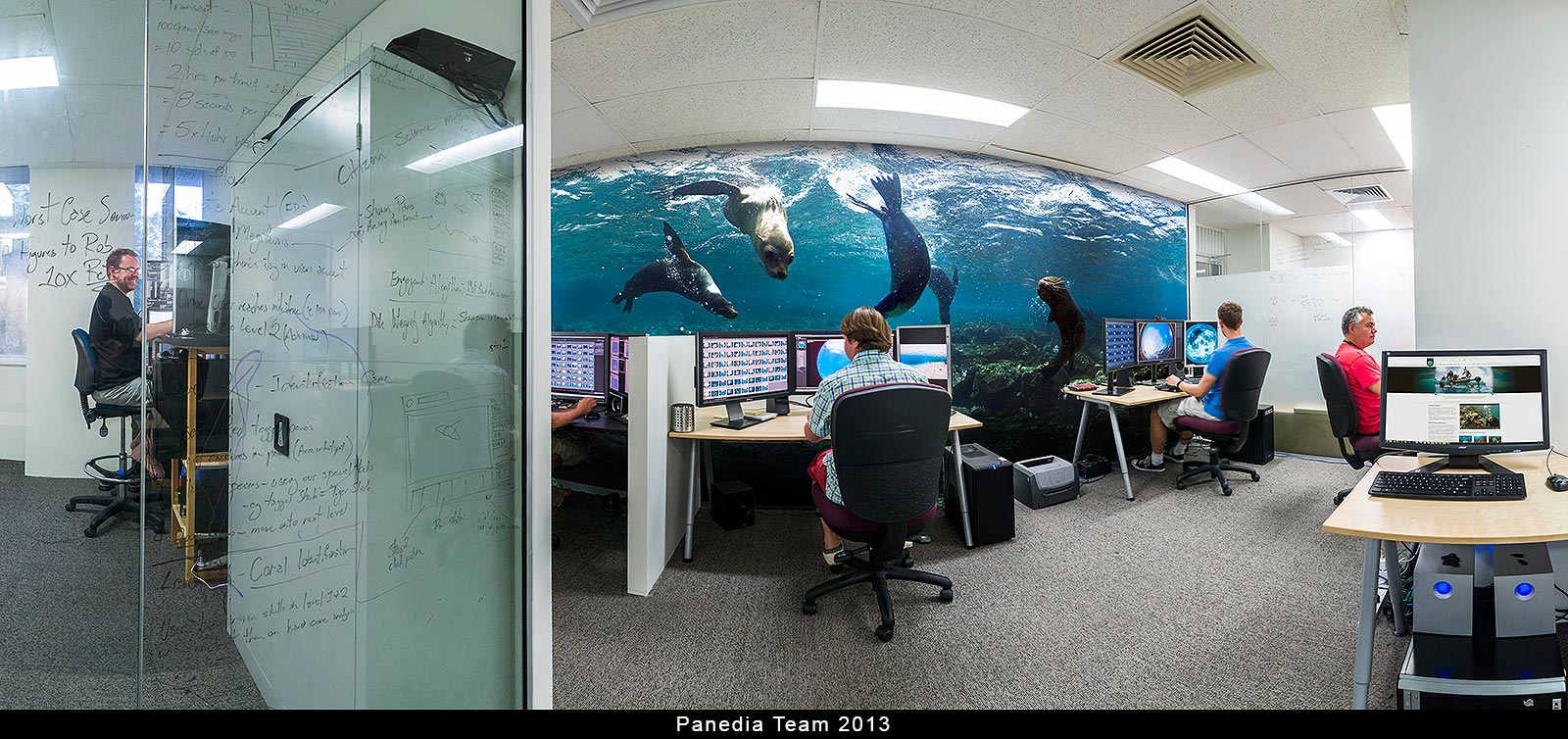 The Panedia Team working on the Google Oceans Streetview circa 2013
