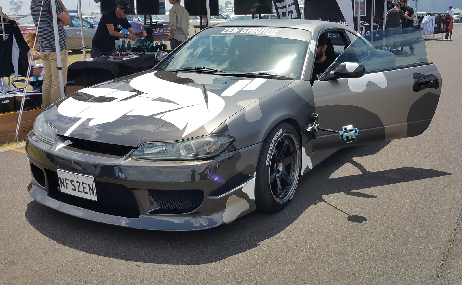 Need For Speed - Crew Create project S15 by Zen Garage with 360 rig mounted on the bonnet