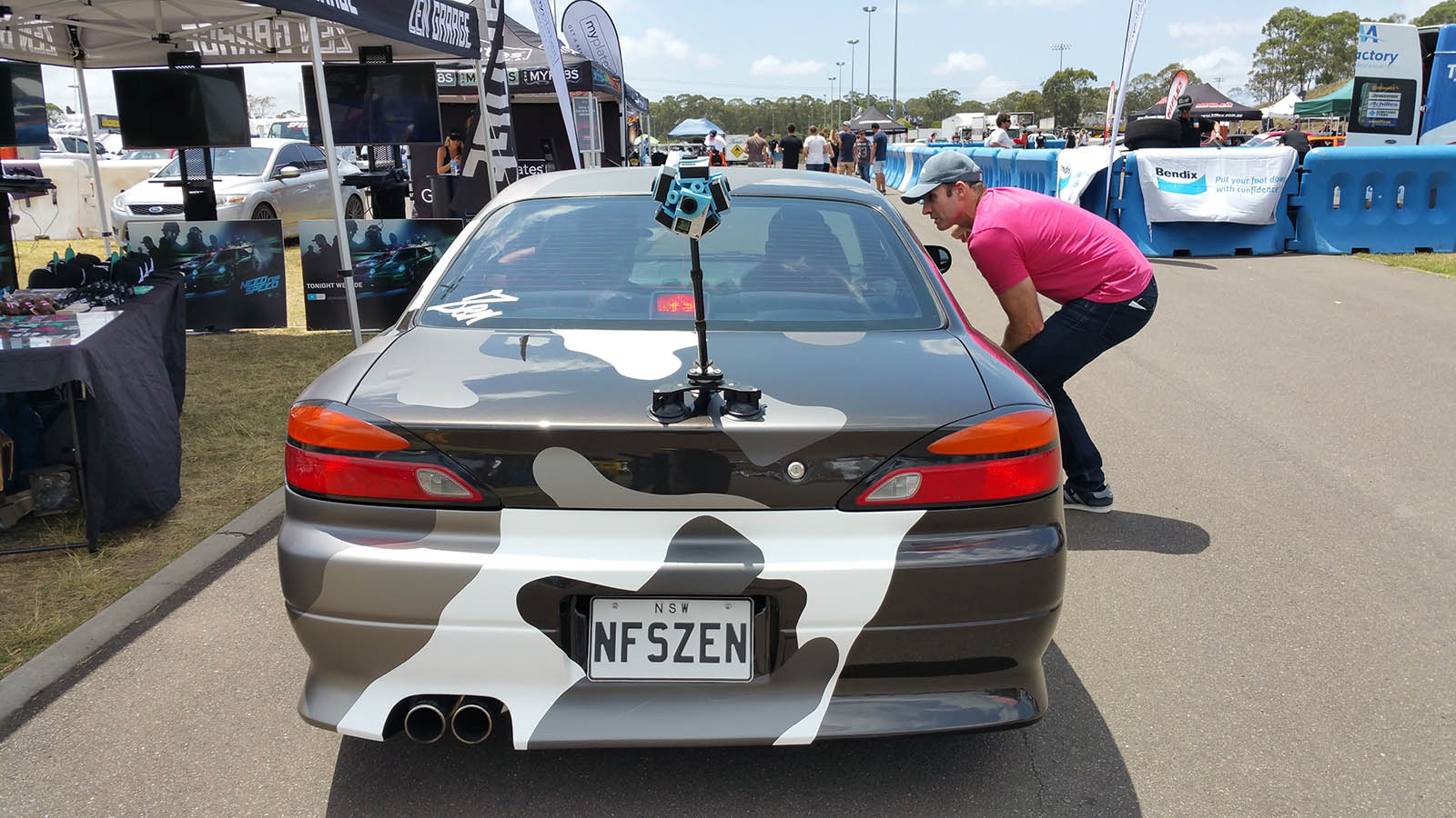 Need For Speed - Crew Create project S15 by Zen Garage with 360 rig mounted on the booth