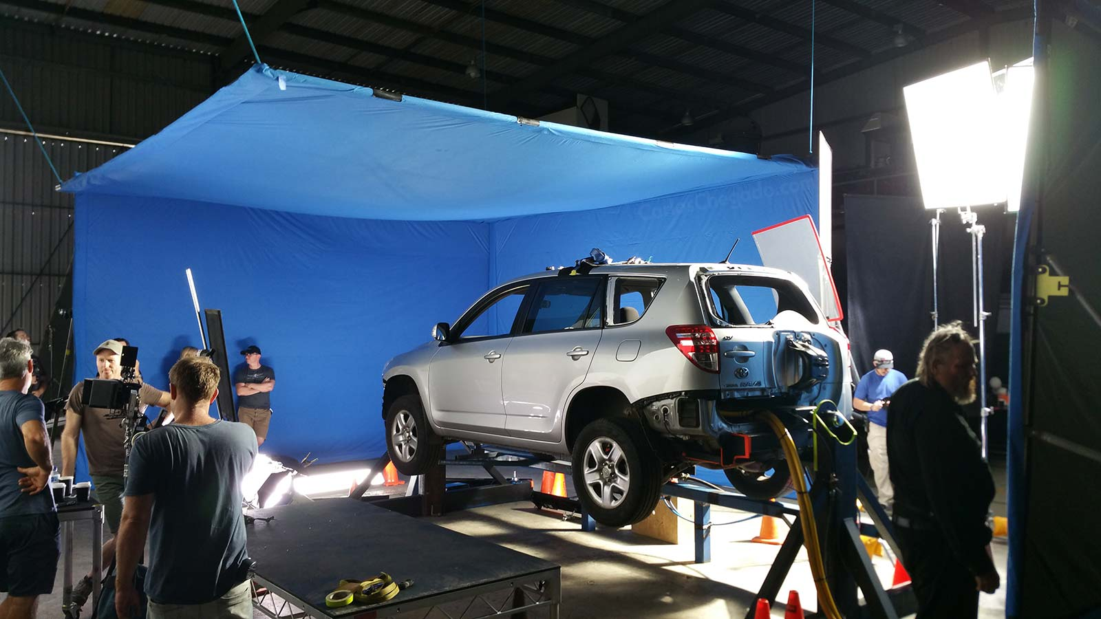 Car Roll over setup at Wongawallan FX Illusions Studio