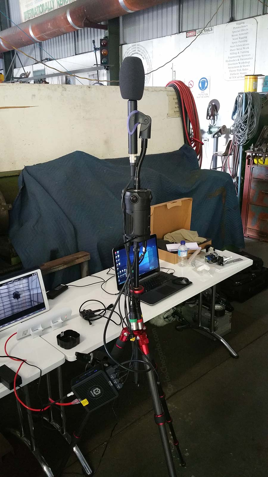 The ZCAM S1 Setup including the Sennheiser AMBEO VR Microphone and Teradek Sphere